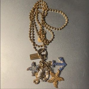 Coach Long Gold Nautical Necklace